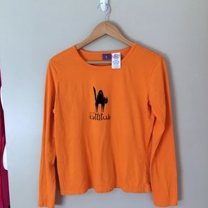 ❤️5 for $25 Orange  Long Sleeved Tee Shirt